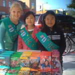 Girl Scout Cookies For Sale in front of Peet's Coffee - 1825 Solano Avenue in Thousand Oaks Berkeley