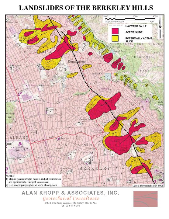 Kropp Berkeley Hills Slide Map